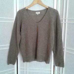 Hartford grey wool blend sweater, size 2 S/M